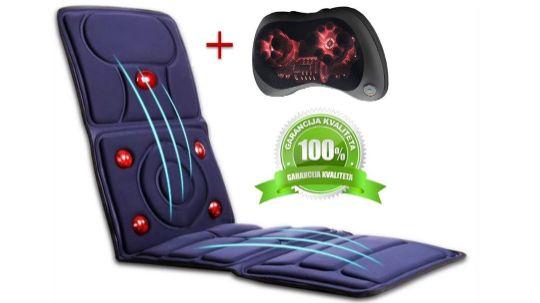 Premium Ametist Kristal terapeutsko masažni set, masažna podloga i shiatsu masažaer za kućnu masažu
