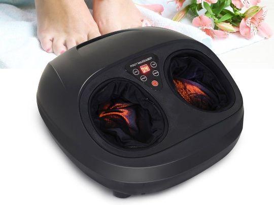 Relaks masaza sa terapeutskim foot kristal masazerom za stopala