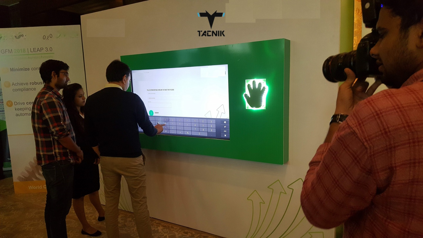Take a pledge touch wall