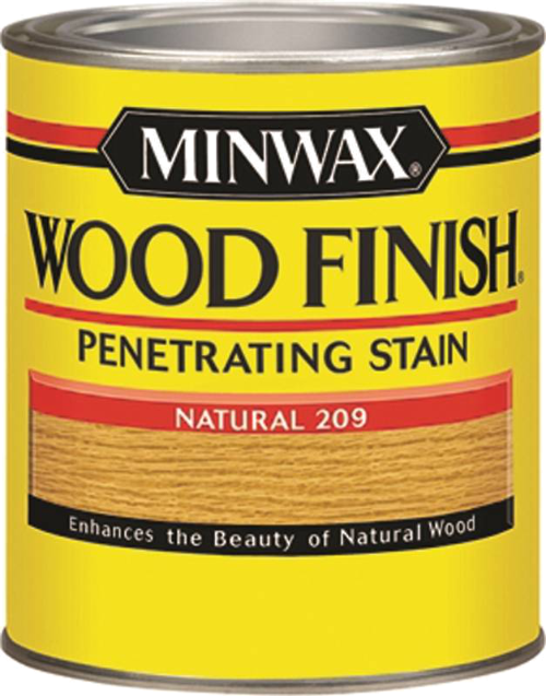 Minwax Wood Finish 220904444 Wood Stain, Natural, 0.5 pt Can