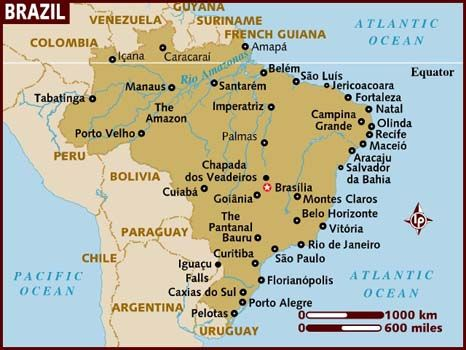 Map of Brazil - Lonely Planet