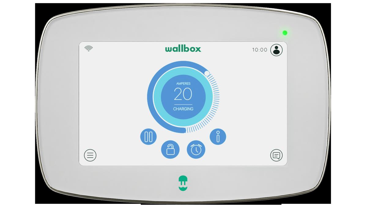Cargador WallBox Commander 2 Type 2 22kW Blanco